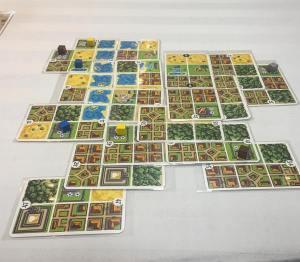 Building a city at ConnCon via Honshu Fun game! boardgameshellip