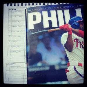 My first MLB game in my Eephus League Halfliner.