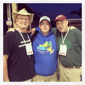 It's always fun to meet up with old caching friends at big events!
