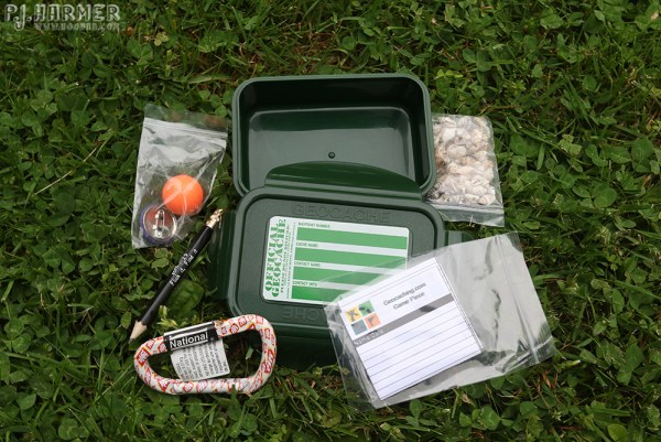 Outside the box: Geocache contents