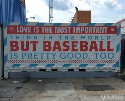 One of the baseball-themed outside the ballpark.