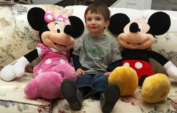 Cam with Mickey and Minnie.
