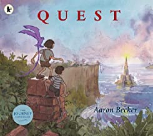 Quest book 2 of wordless picture book trilogy by Aaron Becker.