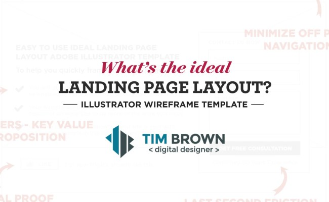What S The Ideal Landing Page Layout Wireframe Template