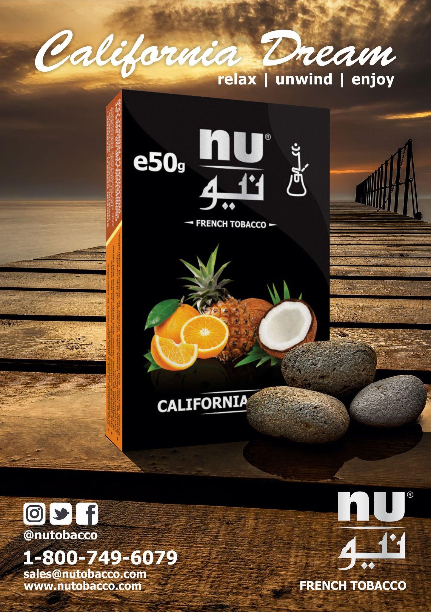 Nu Hookah / California Dream(オレンジとパインアップルとココナッツのMix、美味しい)