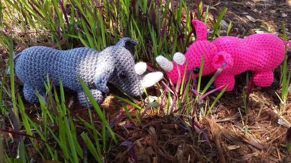 Romping Rhino Free Crochet Pattern Hooked By Kati