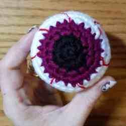 Creepy Eyeball Amigurumi Free Crochet Pattern