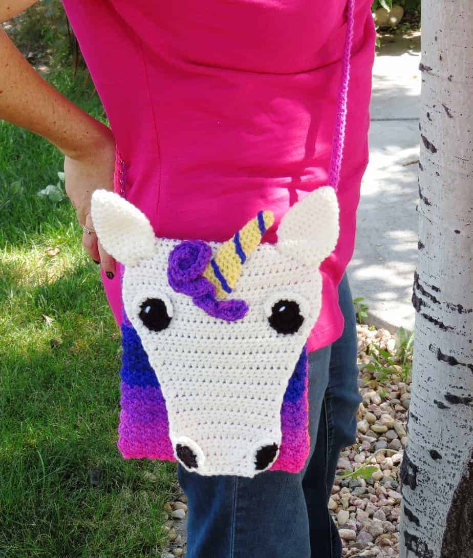 Unicorn Cross Body Bagpurse Crochet Pattern Printable Pdf