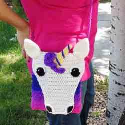 Unicorn Crossbody Bag Crochet Pattern