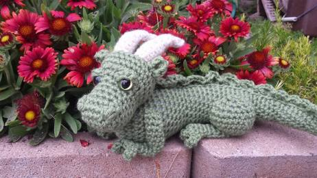 baby dragon crochet kit | Hooked by Kati