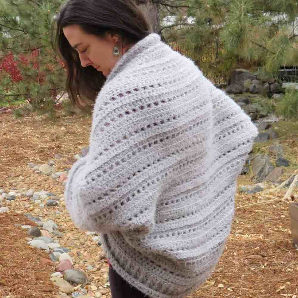 First Snow Cardigan Free Crochet Pattern Hooked By Kati