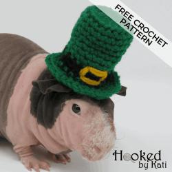 St. Patrick's Day Leprechaun Hat free crochet pattern | Hooked by Kati
