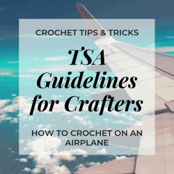flying with crochet hooks, TSA guidelines for crafters, what you can take on an airplane