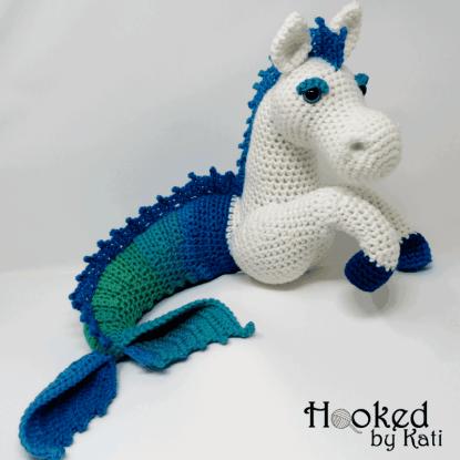 Sea dragon toy, crochet sea dragon, amigurumi sea dragon, sea toy ... | 415x415