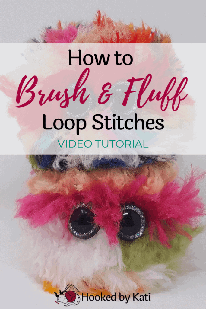 How to Brush and Fluff the Loop Stitch to make awesome fur for your amigurumi! From Hooked by Kati