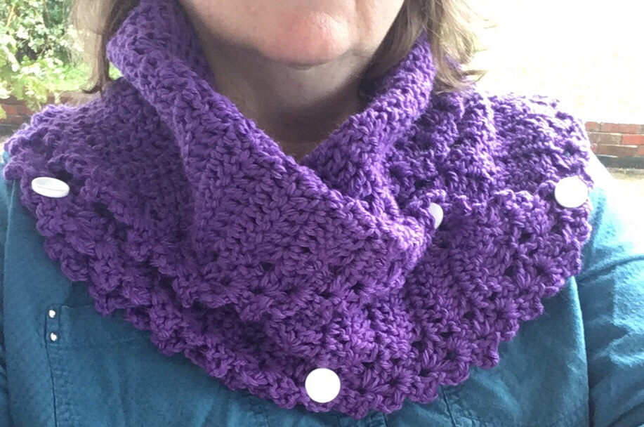 Foldover Cowl Free Pattern to Crochet by Mary Beth Temple from Hooked for Life