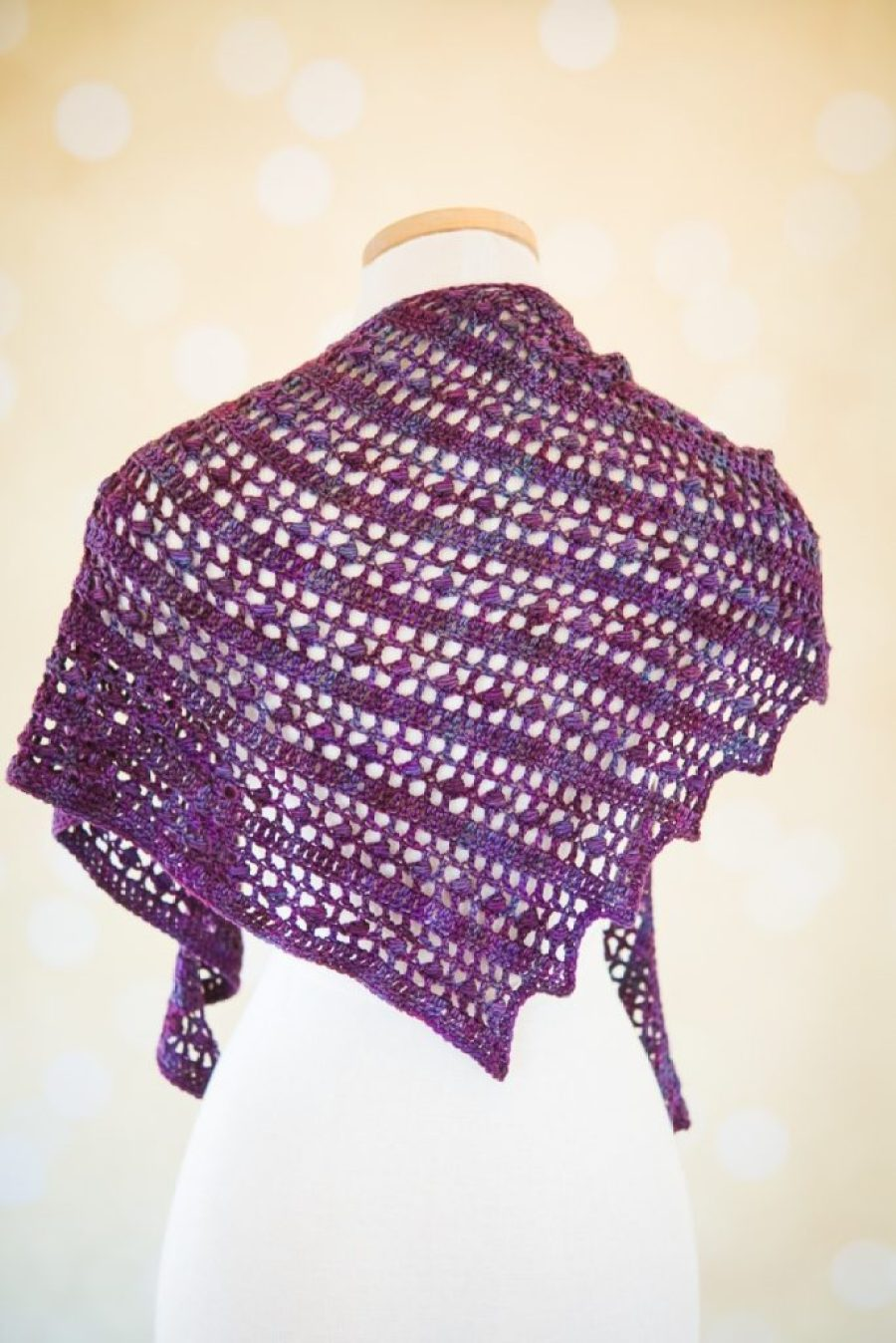 Solna Shawl, a paid crochet pattern by Mary Beth Temple for SweetGeorgia Yarns. Available on Ravelry and the SweetGeorgia website.