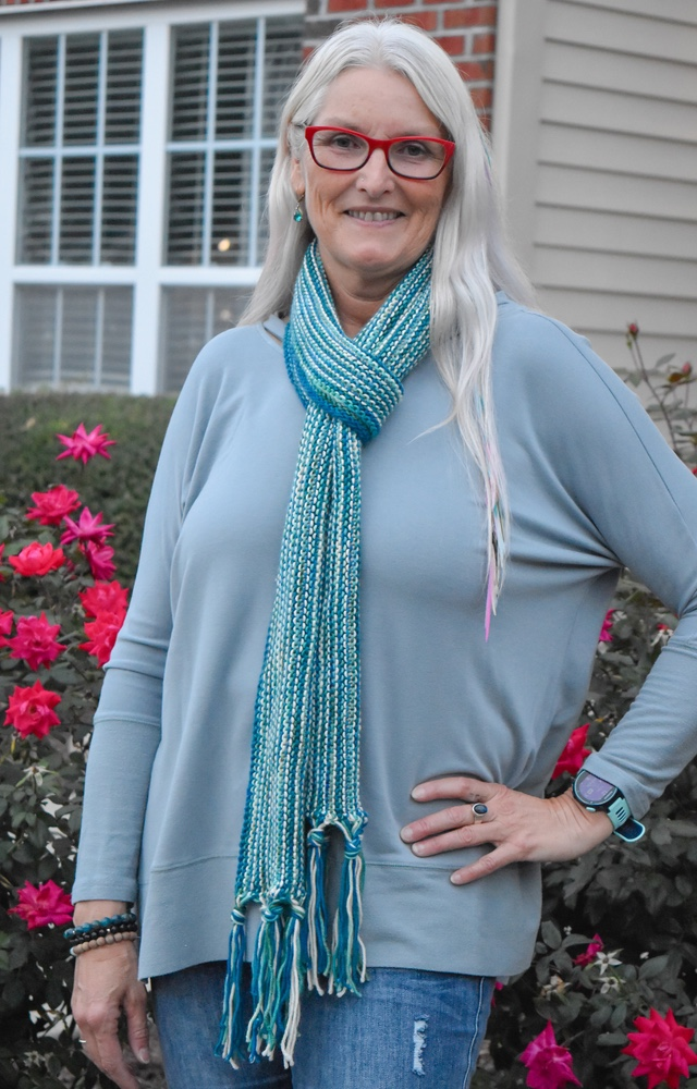 Free Knit Pattern Easy   Fringed  Scarf 2