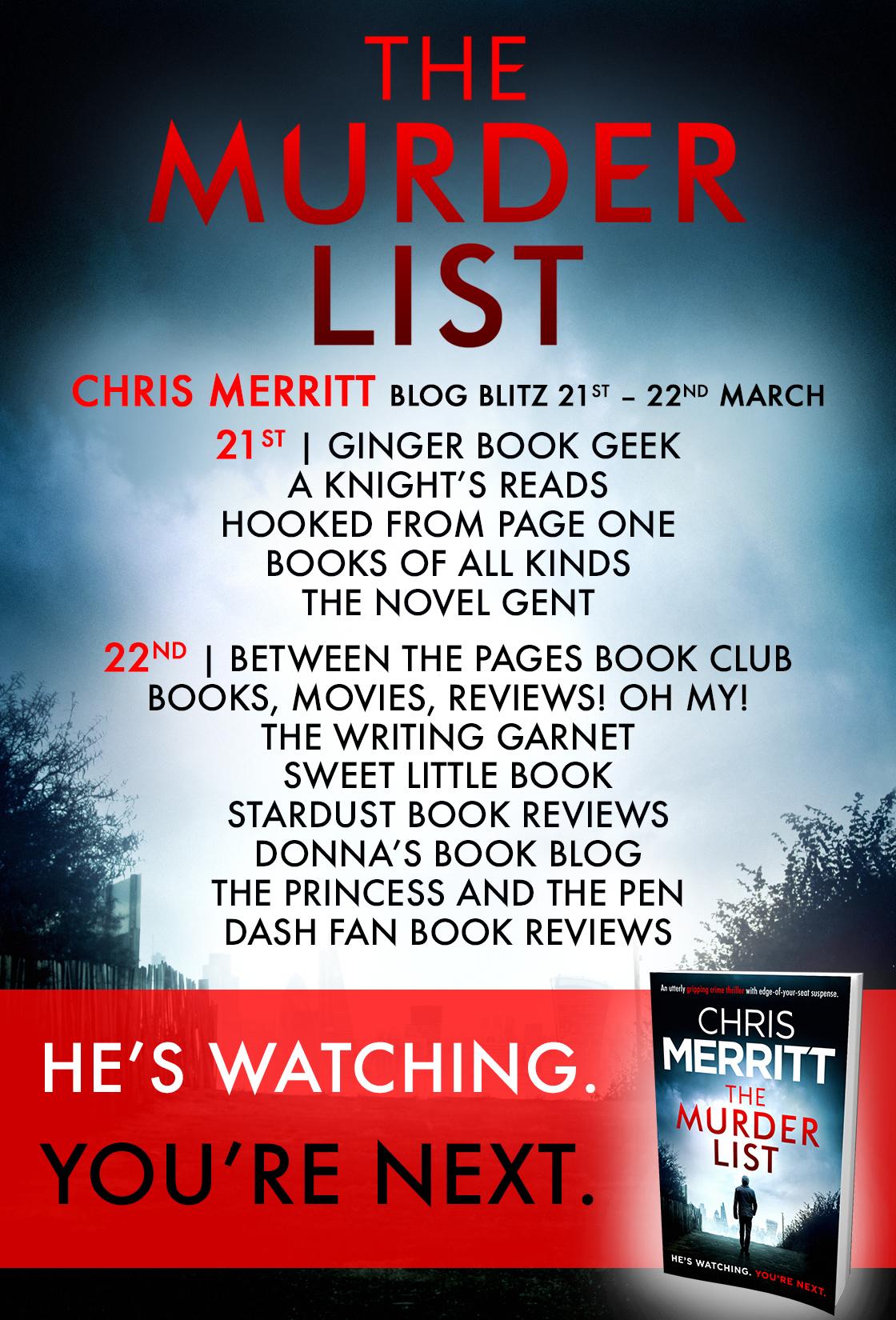 The Murder List - Blog Tour