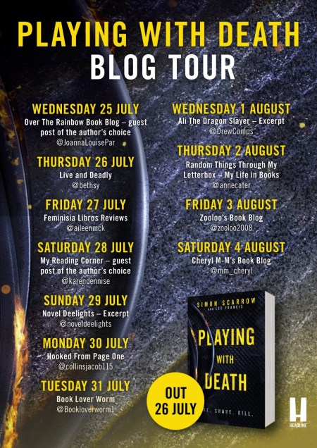 Playing With Death Blog Tour Poster