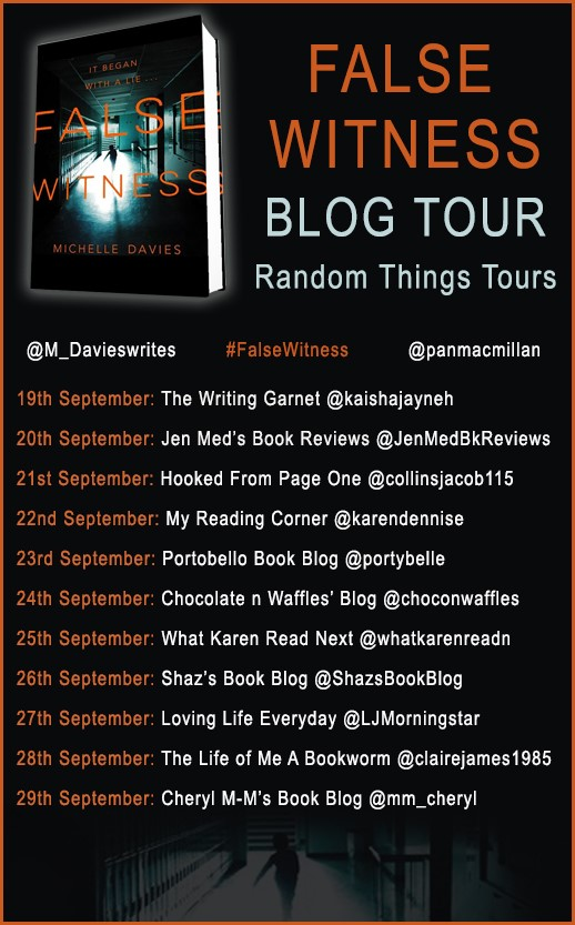 False Witness Blog Tour poster