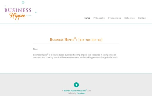 Business Hippie Productions – Website Creation