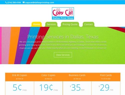 Copy Cat Printing Center – Print Shop Website Creation