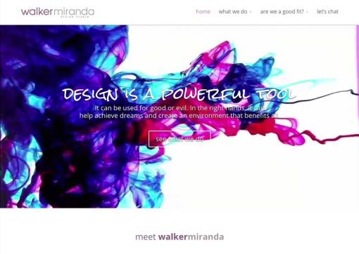 walker+miranda interior design studio – website creation