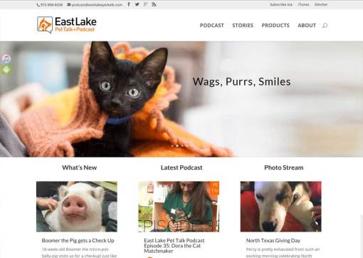 Veterinary Hospital's Podcast Site Website Redesign – East Lake Pet Talk