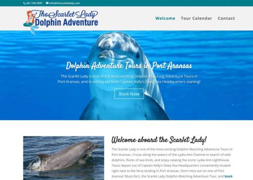 Scarlet Lady Dolphin Cruises – Tour Booking Website Creation