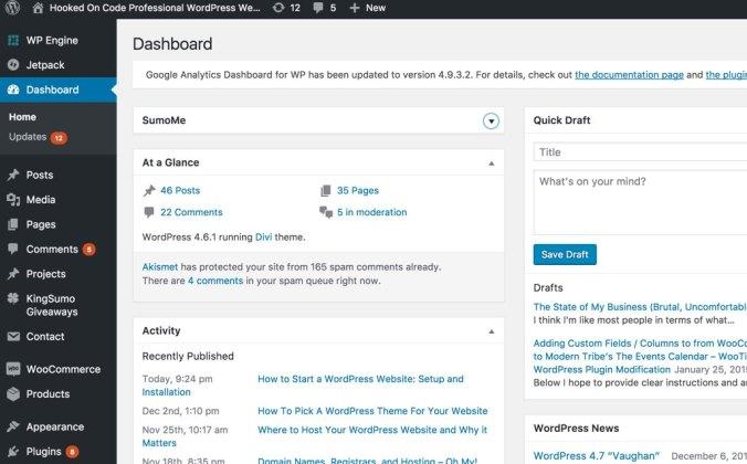 wordpress-dashboard-example-hooked-on-code