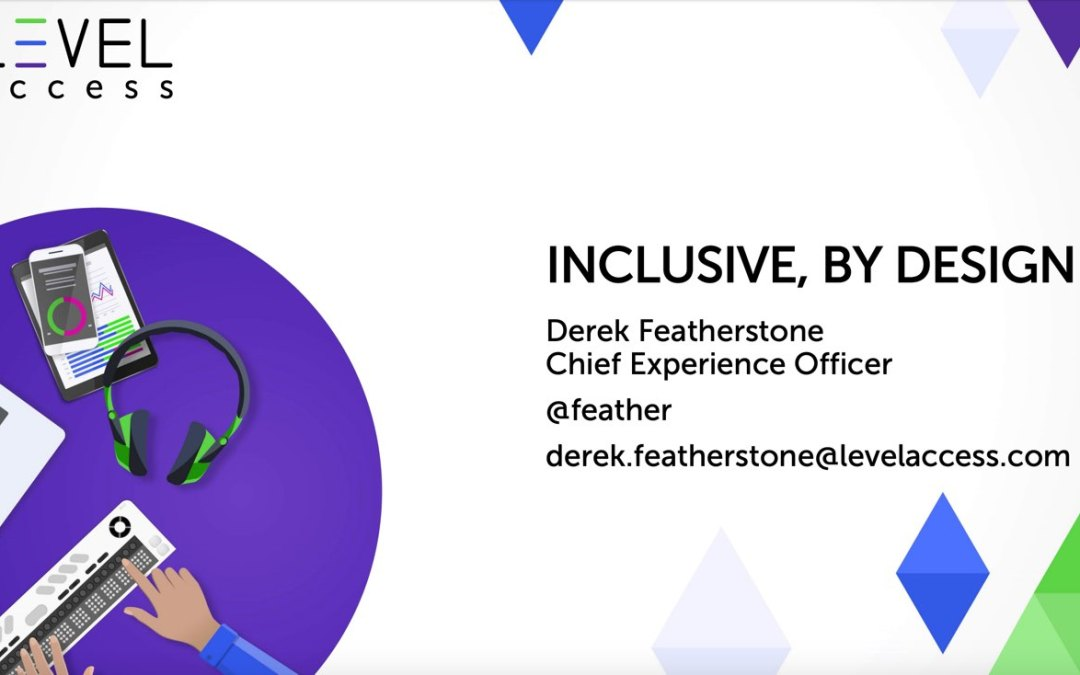 Inclusive, by Design by Derek Featherstone