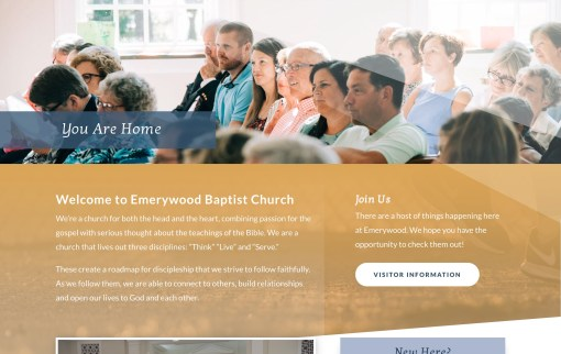 Emerywood Baptist Church | Website Redesign