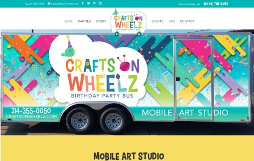 Crafts on Wheelz | Website Creation