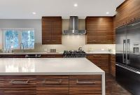 Midcentury modern kitchen after 2