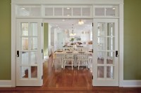 kitchen painted Sherwin Williams Sprout french doors ...