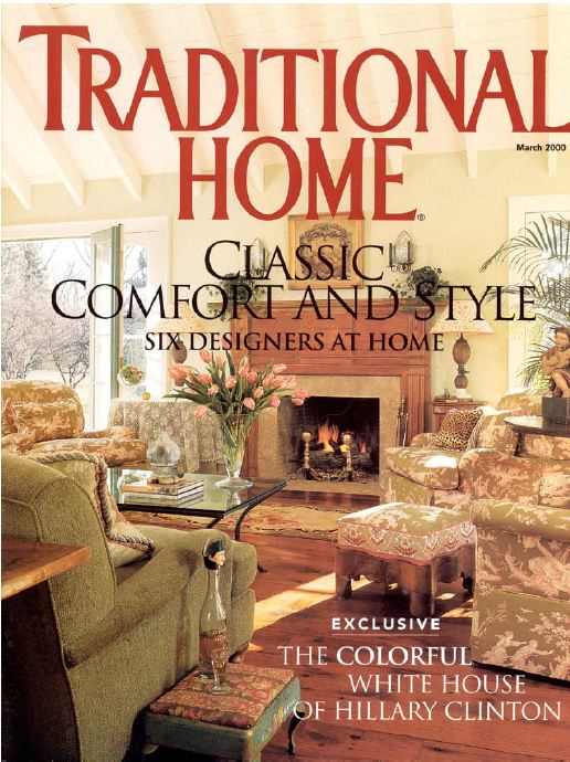 Traditional Home Magazine Cover 2000 Suzy Stout Hooked On Houses