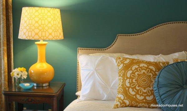 yellow lamp bedroom 2 Hooked on Houses