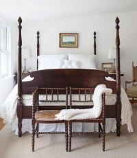 Country-Farmhouse-DIY-mahogany-and-white-master-bedroom ...