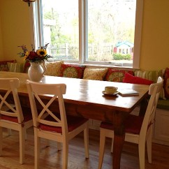 Kitchen Nook Table Paula Deen Cabinets Maribeth's After-banquette - Hooked On Houses