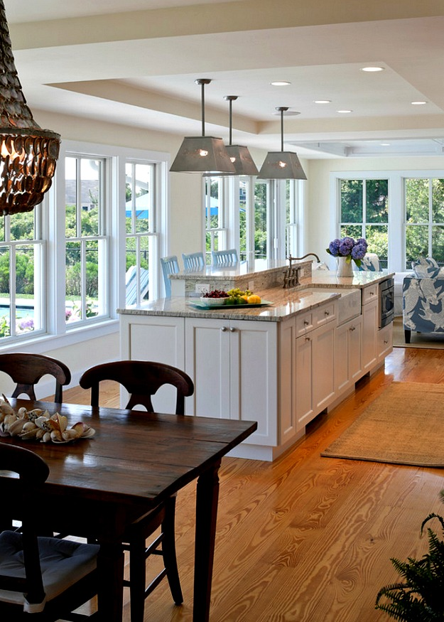 Cape Cod Kitchen Table And Island  Hooked On Houses