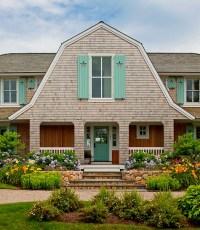 A Shingled House with Aqua Shutters on Cape Cod - Hooked ...