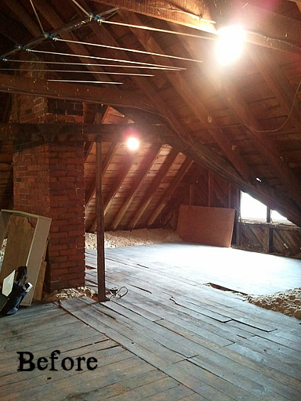 Old Victorian Attic before 2  Hooked on Houses