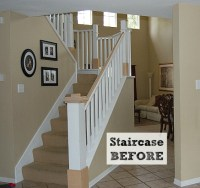 Before & After: Jennifer's DIY Staircase Makeover - Hooked ...