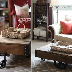 Small Living Room Diy Cheap Used Furniture Redecorating A Factory Cart In