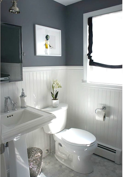 Before and After Updating a HalfBath and Laundry