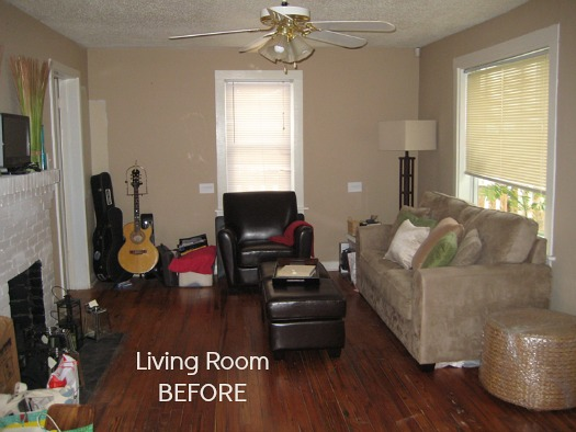 small space living room makeover Before & After: Decorating a 1950s Bungalow - Hooked on Houses