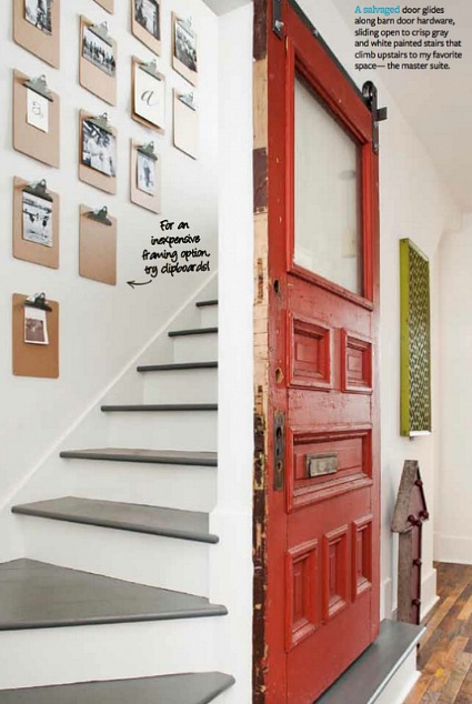 red door stairwell REFRESH magazine