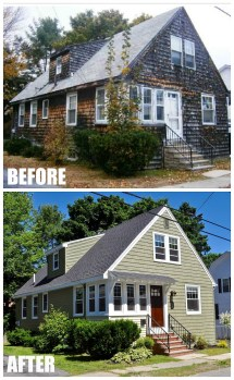 Before and After Bungalow Houses
