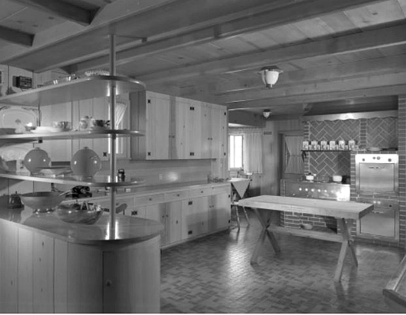 original kitchen at amber hills estate 1949